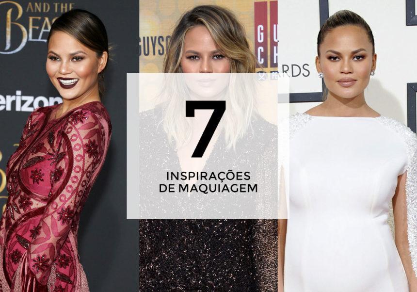 7 inspirações de maquiagem com Chrissy Teigen
