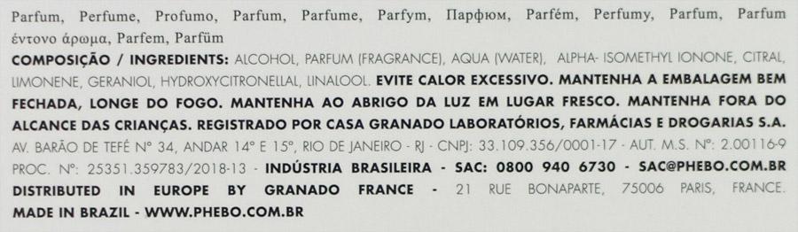 Perfume Cajueiro Phebo