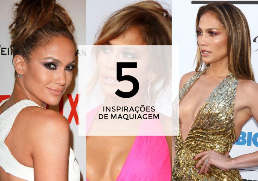 + 5 inspirações de maquiagem com Jennifer Lopez