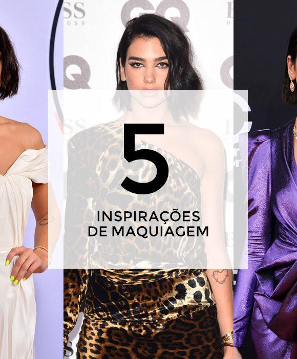5 inspirações de maquiagem com Dua Lipa