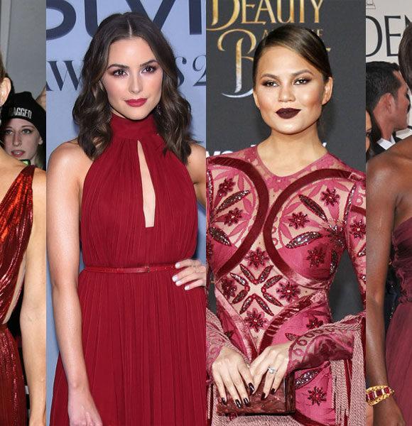 + 10 maquiagens para combinar com vestido bordô