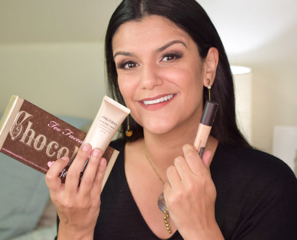 Synchro Skin Tinted Gel Cream, Flawless Fusion Concealer e Chocolate Bon Bons Palette
