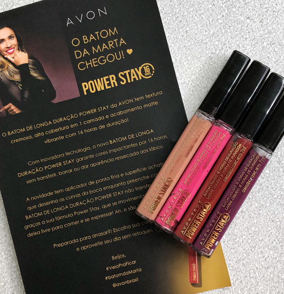 Batom Líquido Avon True Power Stay