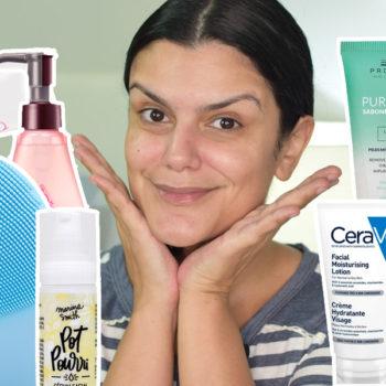 O que estou usando na pele do rosto *