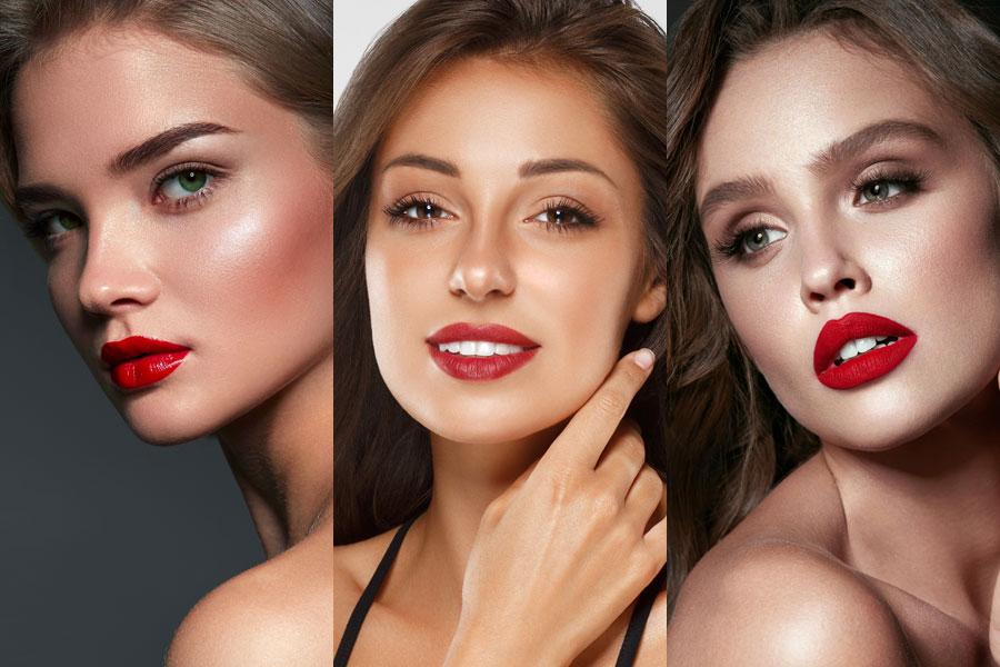 5 ideias de maquiagem com batom vermelho pra usar no Natal