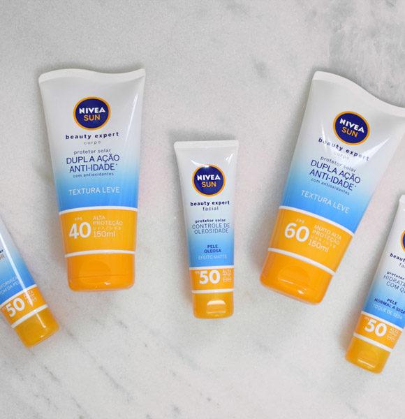 Lançamentos NIVEA SUN Beauty Expert *
