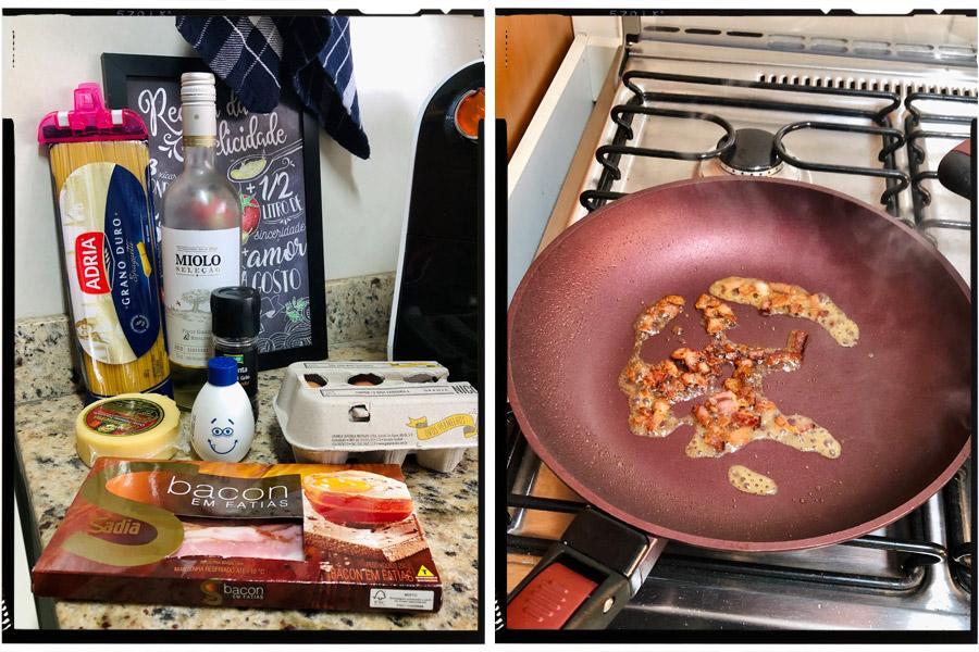 Cozinha tosca do Marinão: Carbonara