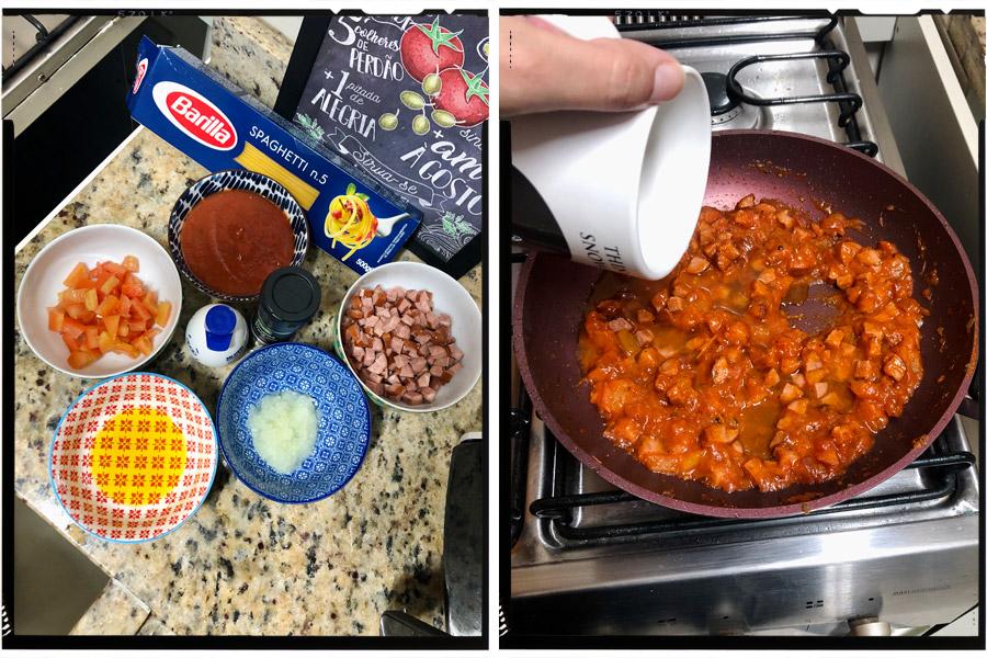 Cozinha tosca do Marinão: Macarrão com linguiça