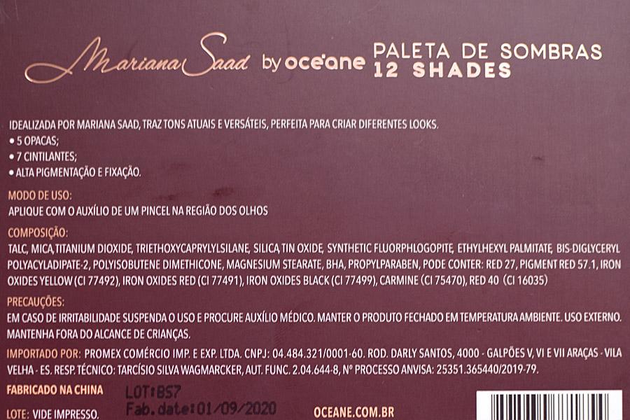 Resenha: Paleta 12 Shades Mariana Saad by Océane