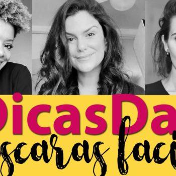 #DicasDas3: Máscaras faciais